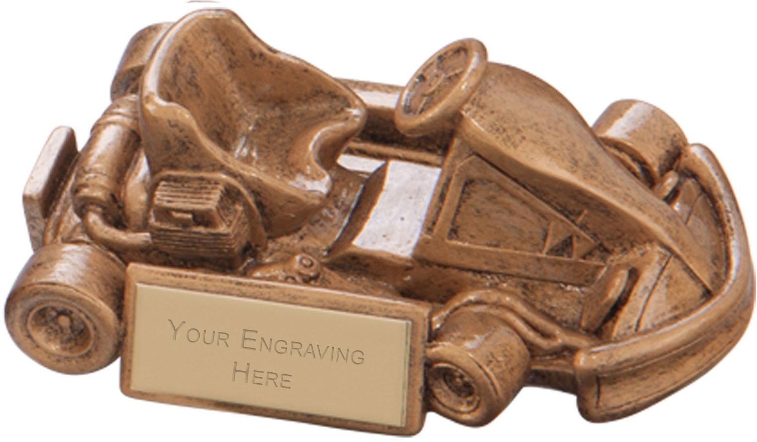 Top Speed Karting Award 4.5 x 10.5cm