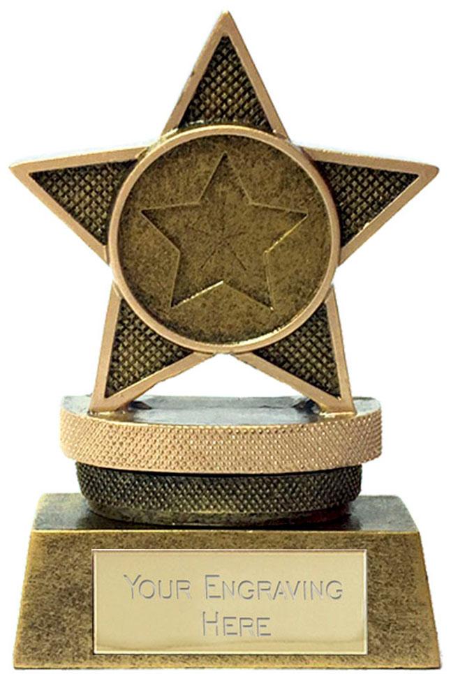 "Mini Star Podium Trophy 7.5cm (3"")"