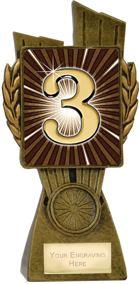 "Lynx 3rd Place Trophy 17cm (6.75"")"
