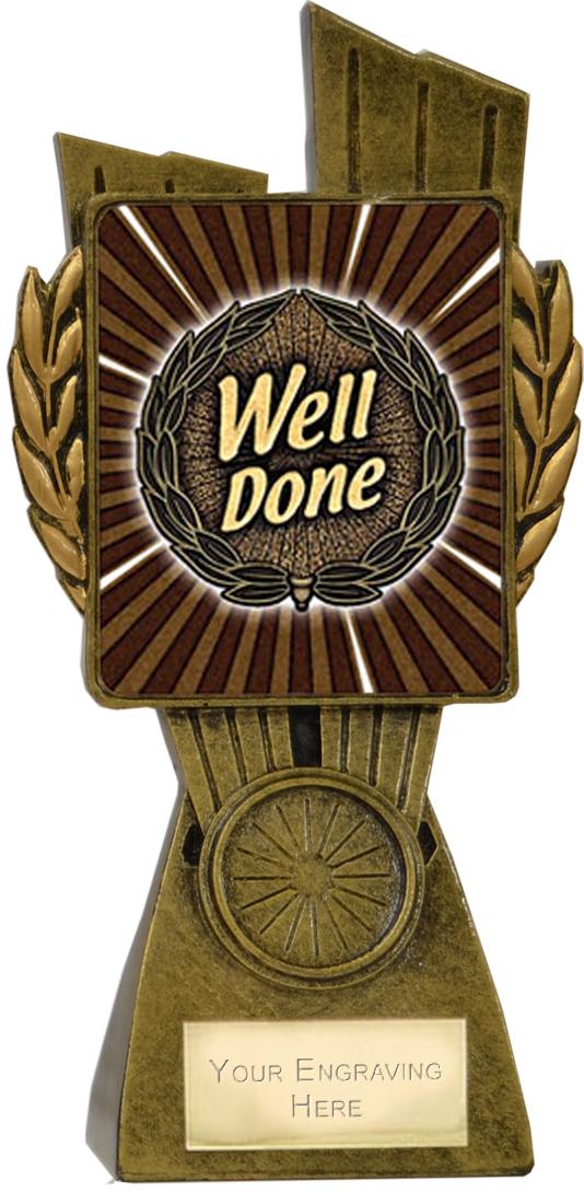 "Lynx Well Done Trophy 17cm (6.75"")"
