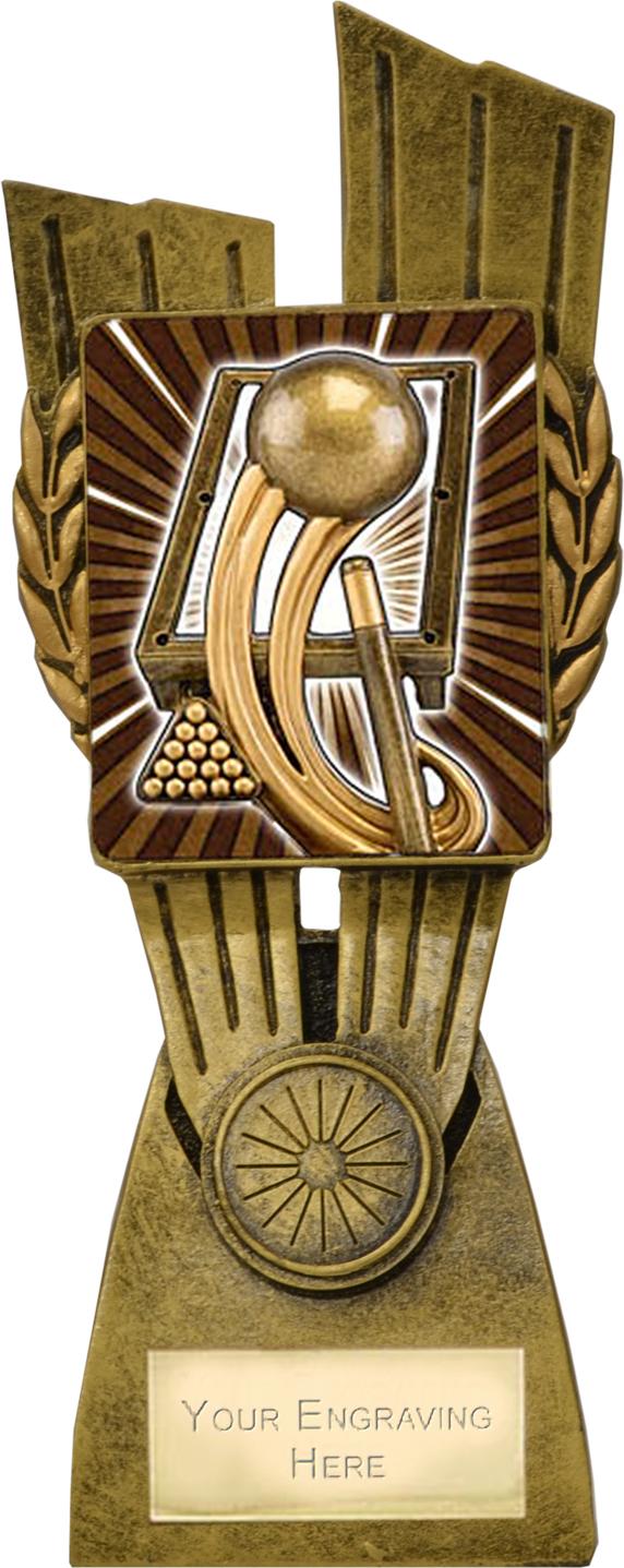 "Lynx Pool/Snooker Trophy 21cm (8.25"")"