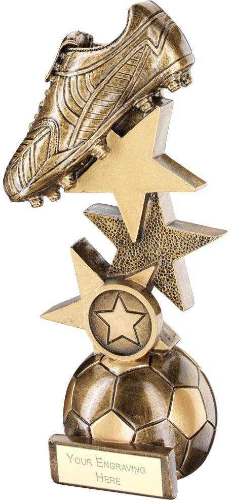 "Football Boot On Multi-Star Riser Trophy 26.5cm (10.5"")"