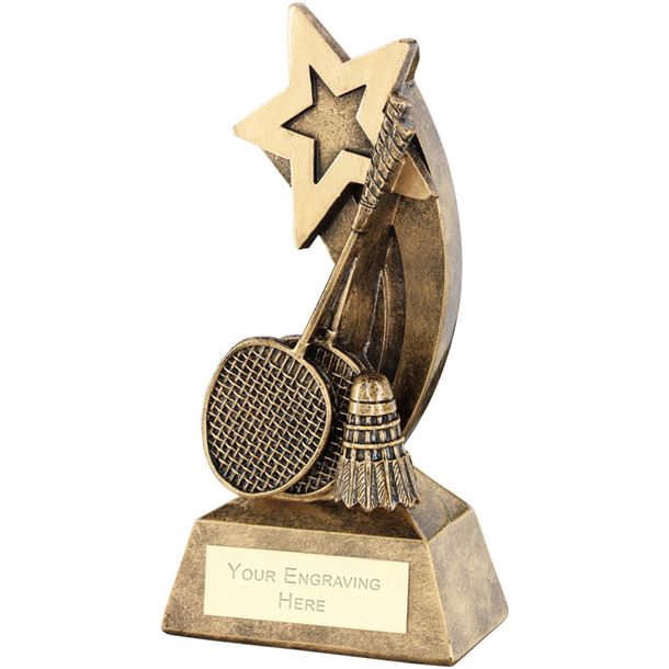 """Badminton Rackets Shuttlecock With Shooting Star Trophy 14.5cm (5.75"""")"""