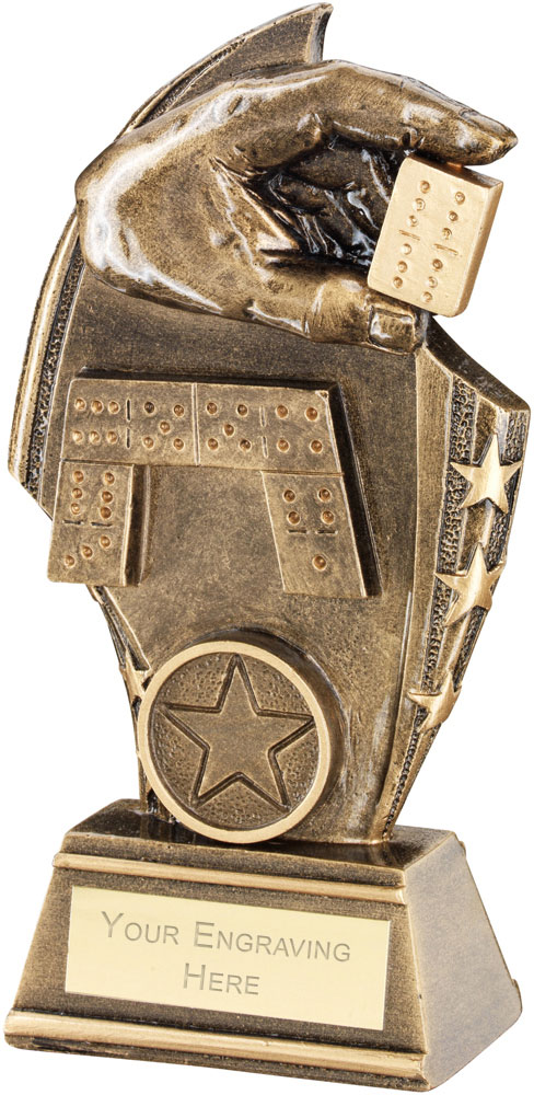 "Dominoes Curved Plaque Trophy 17cm (6.75"")"