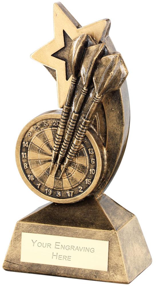 "Dartboard Darts With Shooting Star Trophy 14.5cm (5.75"")"