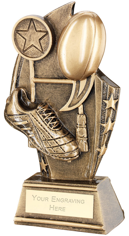 """Rugby Curved Plaque Trophy 14cm (5.5"""")"""