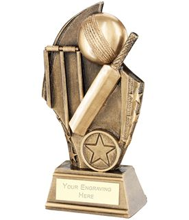 "Cricket Curved Plaque Trophy 15cm (6"")"
