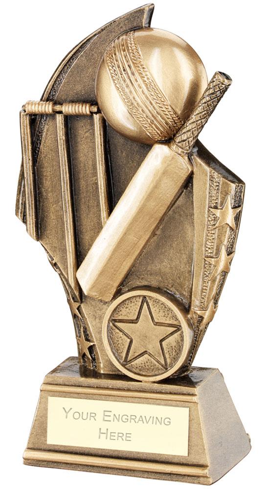 "Cricket Curved Plaque Trophy 14cm (5.5"")"