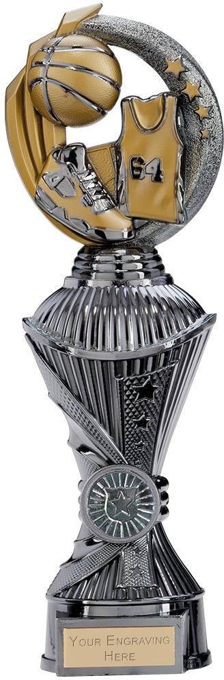 "Renegade Basketball Heavyweight Trophy Gunmetal & Gold 28.5cm (11.25"")"