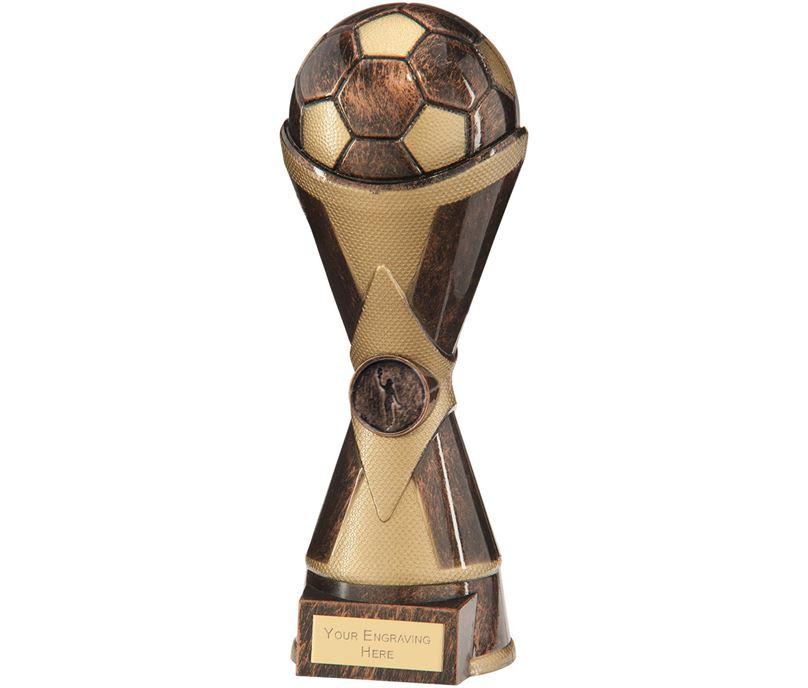 """Hawkeye Football Heavyweight Trophy Antique Bronze & Gold 26cm (10.25"""")"""