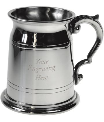 "Olde London Style 1/2pt Sheffield Pewter Tankard 9.5cm (3.75"")"