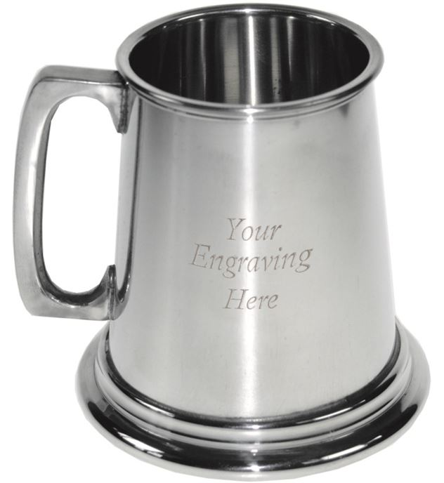 "Plain 1/4pt Children's Sheffield Pewter Tankard 7.5cm (3"")"