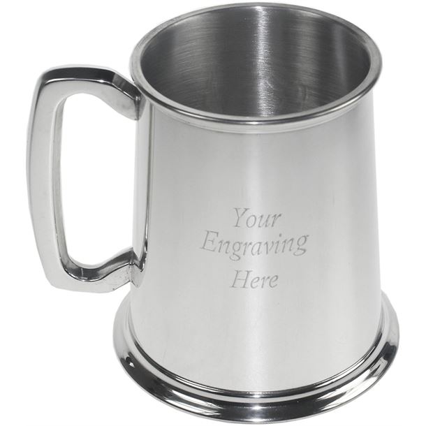 "Plain 1pt Sheffield Pewter Tankard 11.5cm (4.5"")"