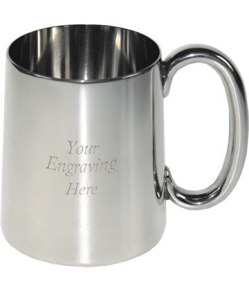 "Plain Imperial 1/2pt Sheffield Pewter Tankard 8.5cm (3.25"")"