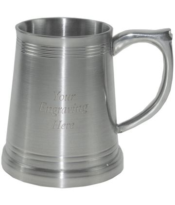 "Heavy Weight Satin Children's Sheffield Pewter Tankard 7.5cm (3"")"