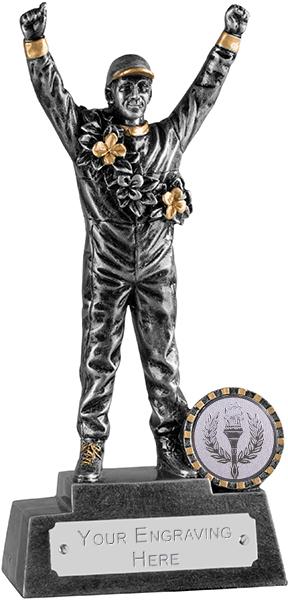 "Silver Racing Driver Motorsports Trophy 18cm (7"")"