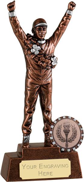 """Bronze Racing Driver Motorsports Trophy 15cm (6"""")"""