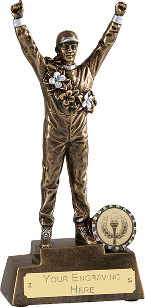 "Gold Racing Driver Motorsports Trophy 20.5cm (8"")"