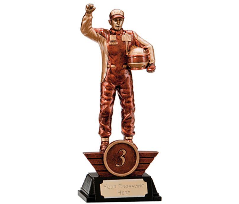 "3rd Place Resin Motorsport Podium Figure Trophy 17.5cm (6.75"")"