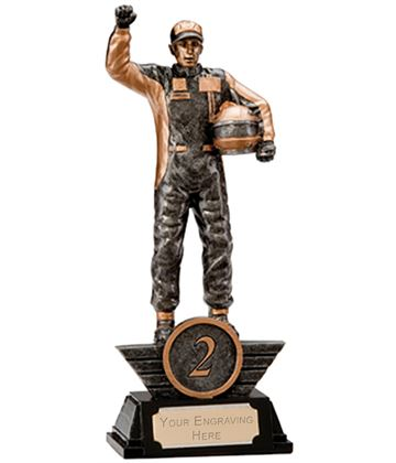 "2nd Place Resin Motorsport Podium Figure Trophy 17.5cm (6.75"")"