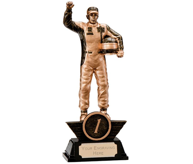 "1st Place Resin Motorsport Podium Figure Trophy 17.5cm (6.75"")"