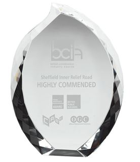 "Heavyweight Optical Crystal Teardrop Award 23cm (9"")"