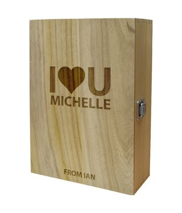 "I Heart U Double Wine Box 35cm (13.75"")"