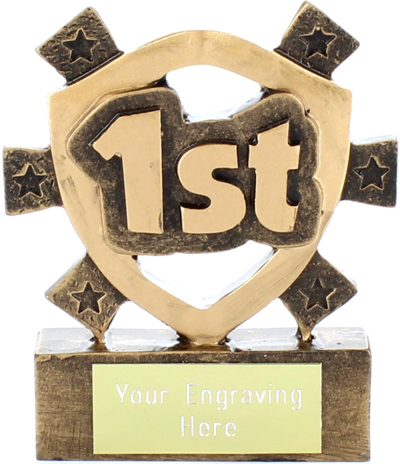 """1st Place Mini Shield Award 8cm (3.25"""")"""