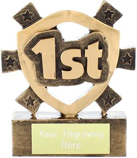 "1st Place Mini Shield Award 8cm (3.25"")"