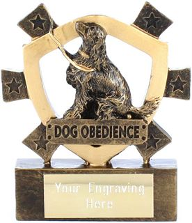 "Dog Obedience Mini Shield Award 8cm (3.25"")"