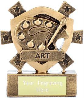 "Art Mini Shield Trophy 8cm (3.25"")"