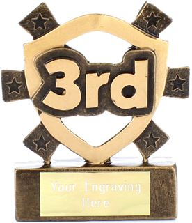 "3rd Place Mini Shield Award 8cm (3.25"")"