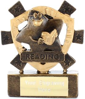 "Reading Mini Shield Award 8cm (3.25"")"