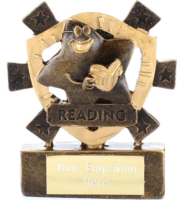 "Reading Mini Shield Award 8cm (3.25"")"