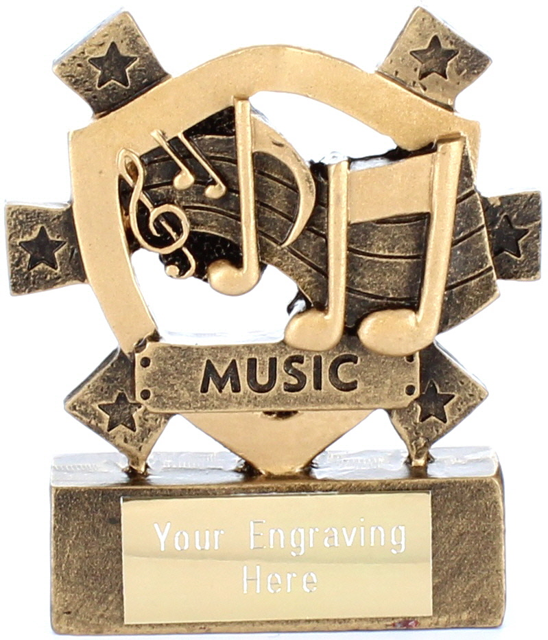 "Music Mini Shield Award 8cm (3.25"")"