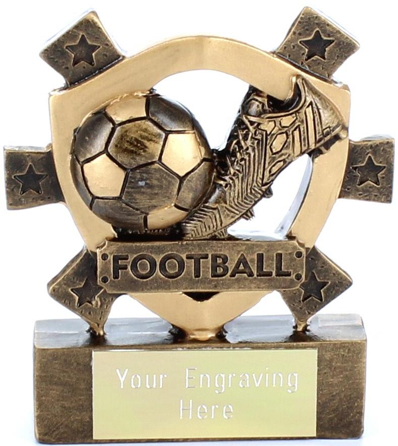 "Football Mini Shield Award 8cm (3.25"")"