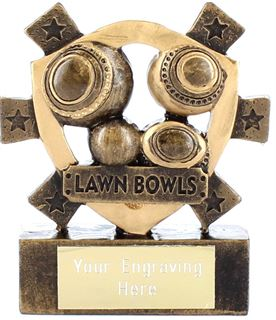 "Lawn Bowls Mini Shield Award 8cm (3.25"")"