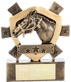 "Horse Mini Shield Award 8cm (3.25"")"