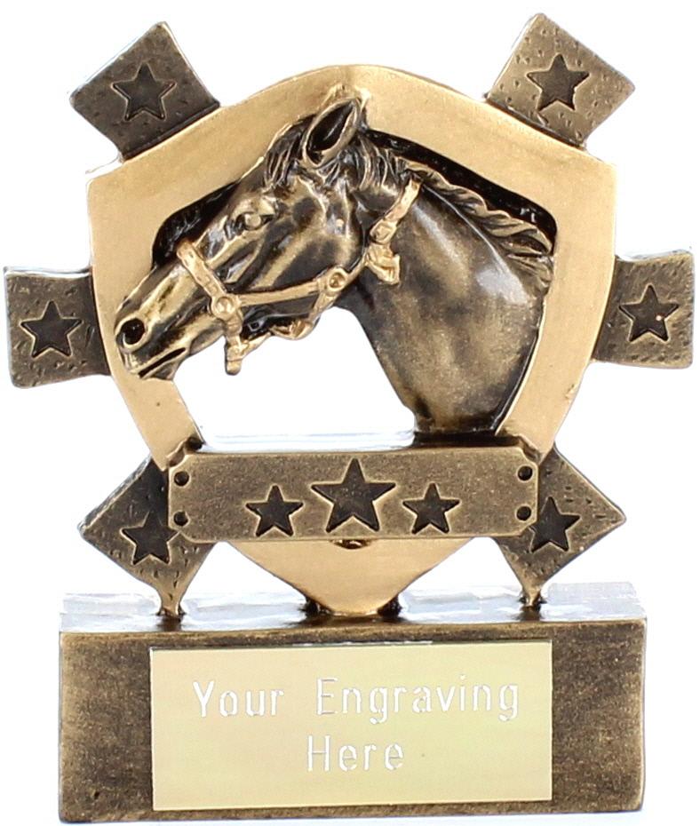 "Horse Mini Shield Award 8cm (3.25"")"