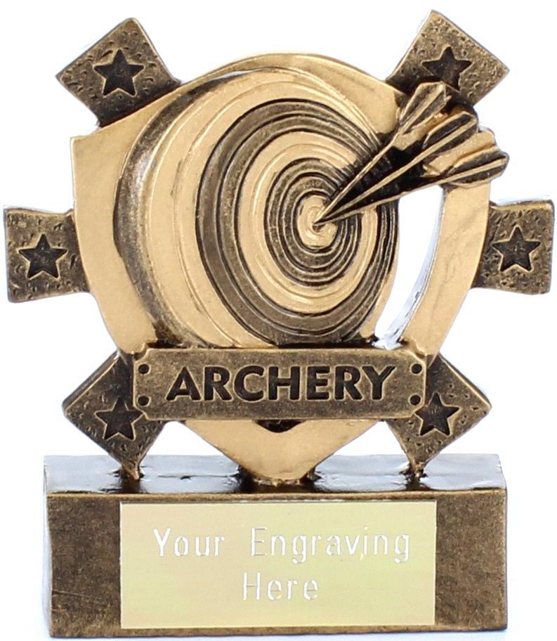 "Archery Mini Shield Award 8cm (3.25"")"