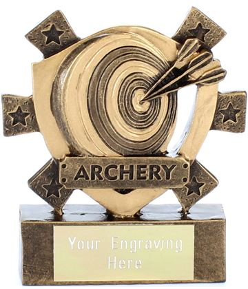 "Archery Mini Shield Award 8cm (3.25"")"