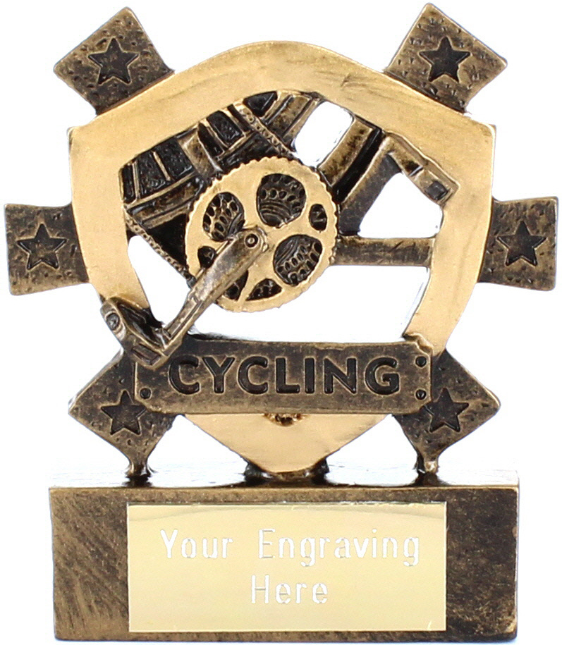 "Cycling Mini Shield Award 8cm (3.25"")"