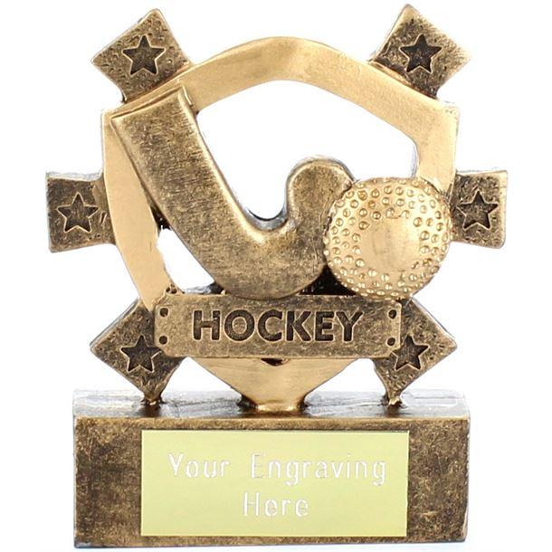 """Hockey Mini Shield Award 8cm (3.25"""")"""