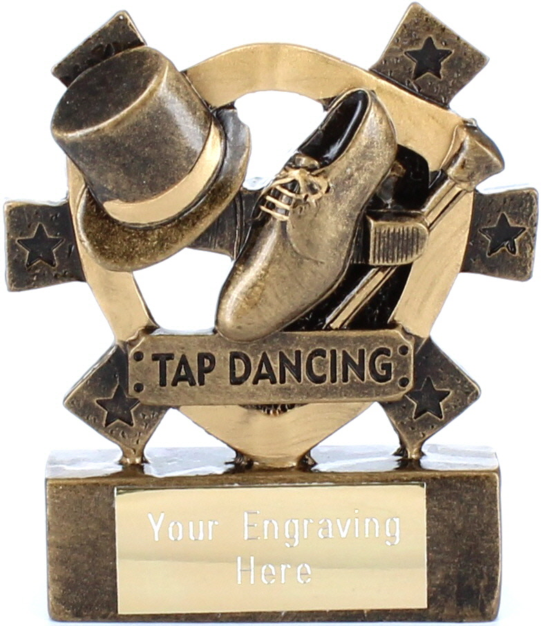 "Tap Dancing Mini Shield Award 8cm (3.25"")"