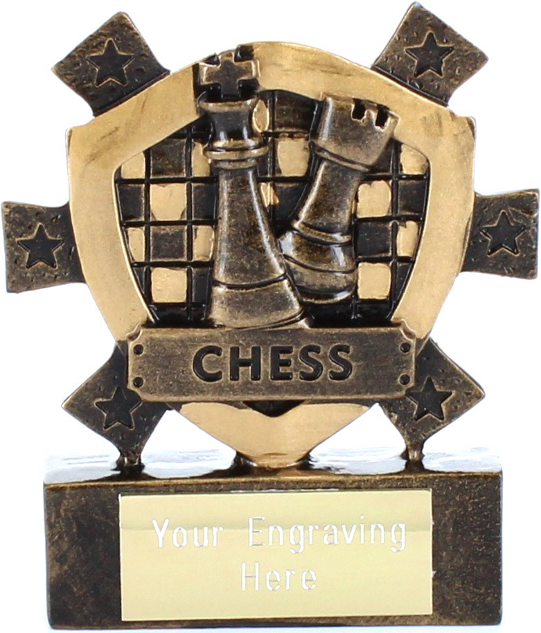 "Chess Mini Shield Award 8cm (3.25"")"