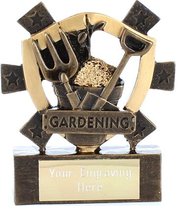"Gardening Mini Shield Award 8cm (3.25"")"