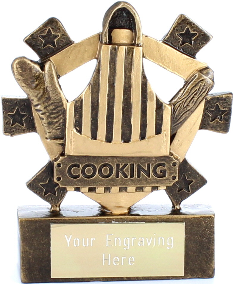 "Cooking Mini Shield Award 8cm (3.25"")"