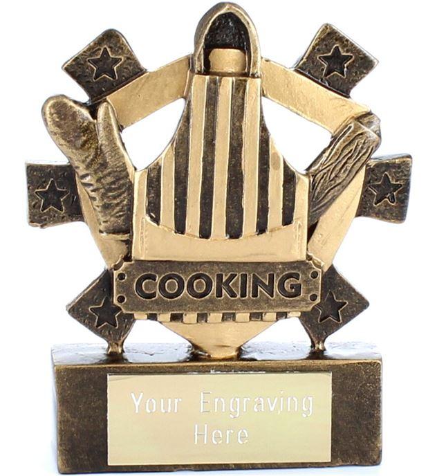 "Cooking Mini Shield Award 8cm (3.25"")"