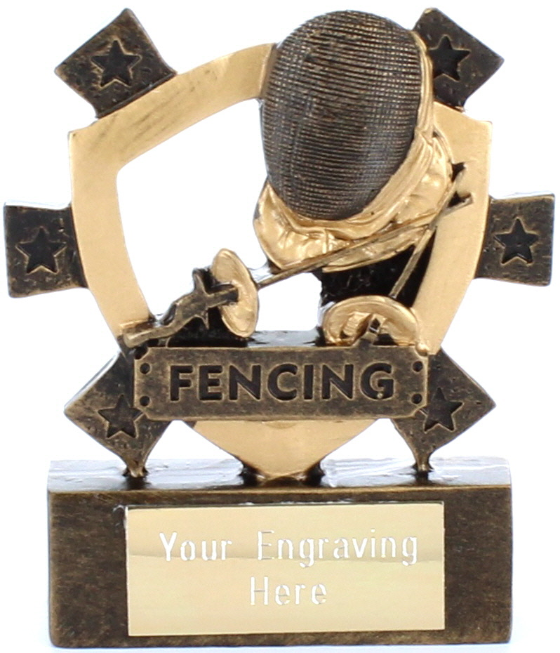 "Fencing Mini Shield Award 8cm (3.25"")"