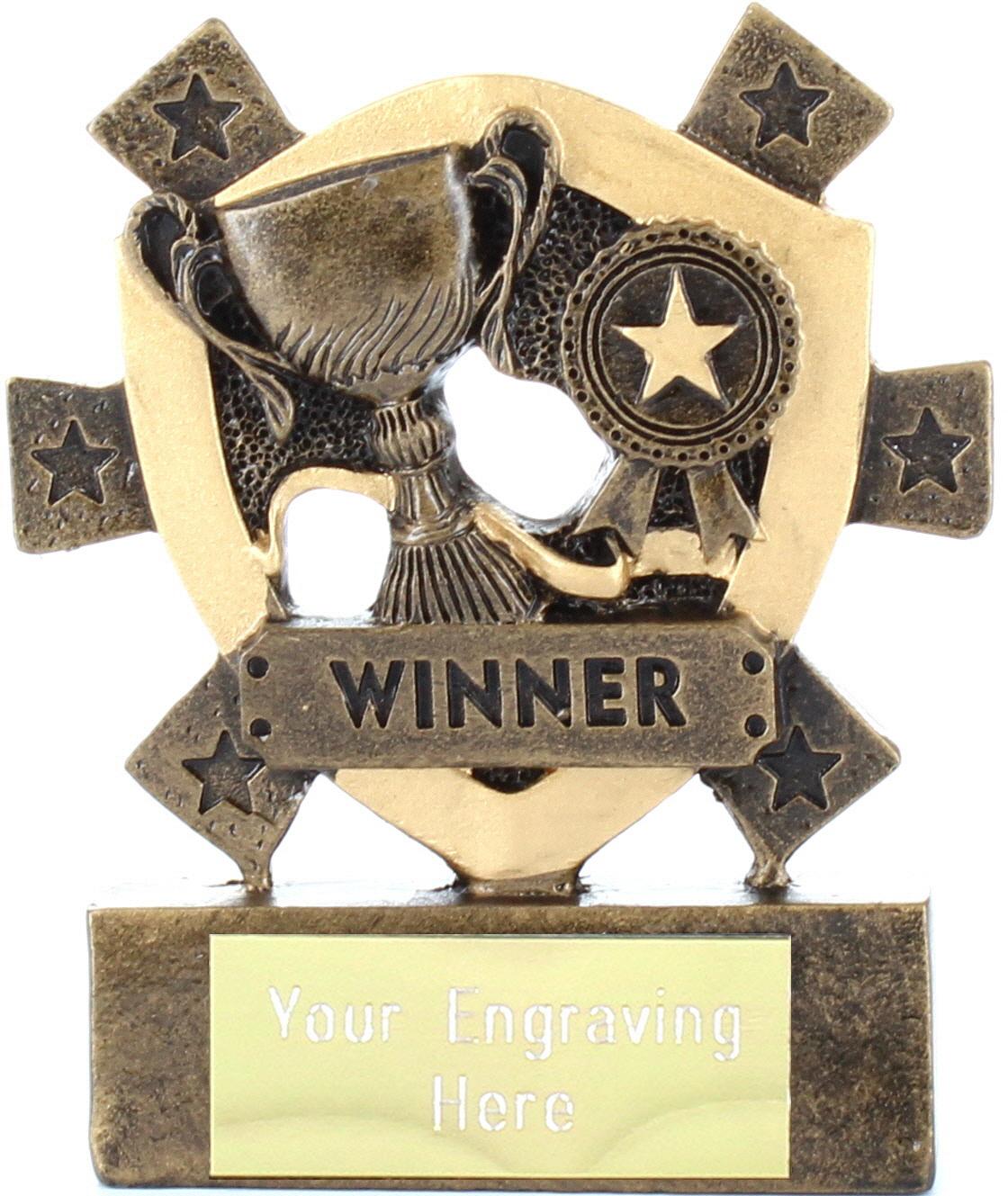 "Winner Mini Shield Award 8cm (3.25"")"